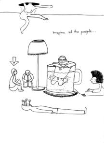 All the people, Zeichnung aus der Reihe ZUSTÄNDE