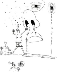 Heuschnupfen | Filzschreiber auf Papier, 24 x 32 cm, 2019