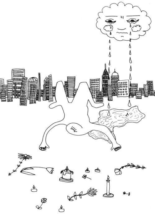 Jetzt musst du springen! | Stift auf Papier, A4, 2019