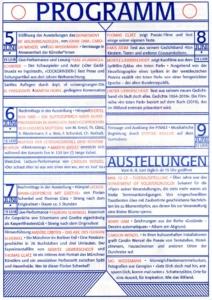 Programm der FINALE - Die letzten iRRland Kunstfestspiele