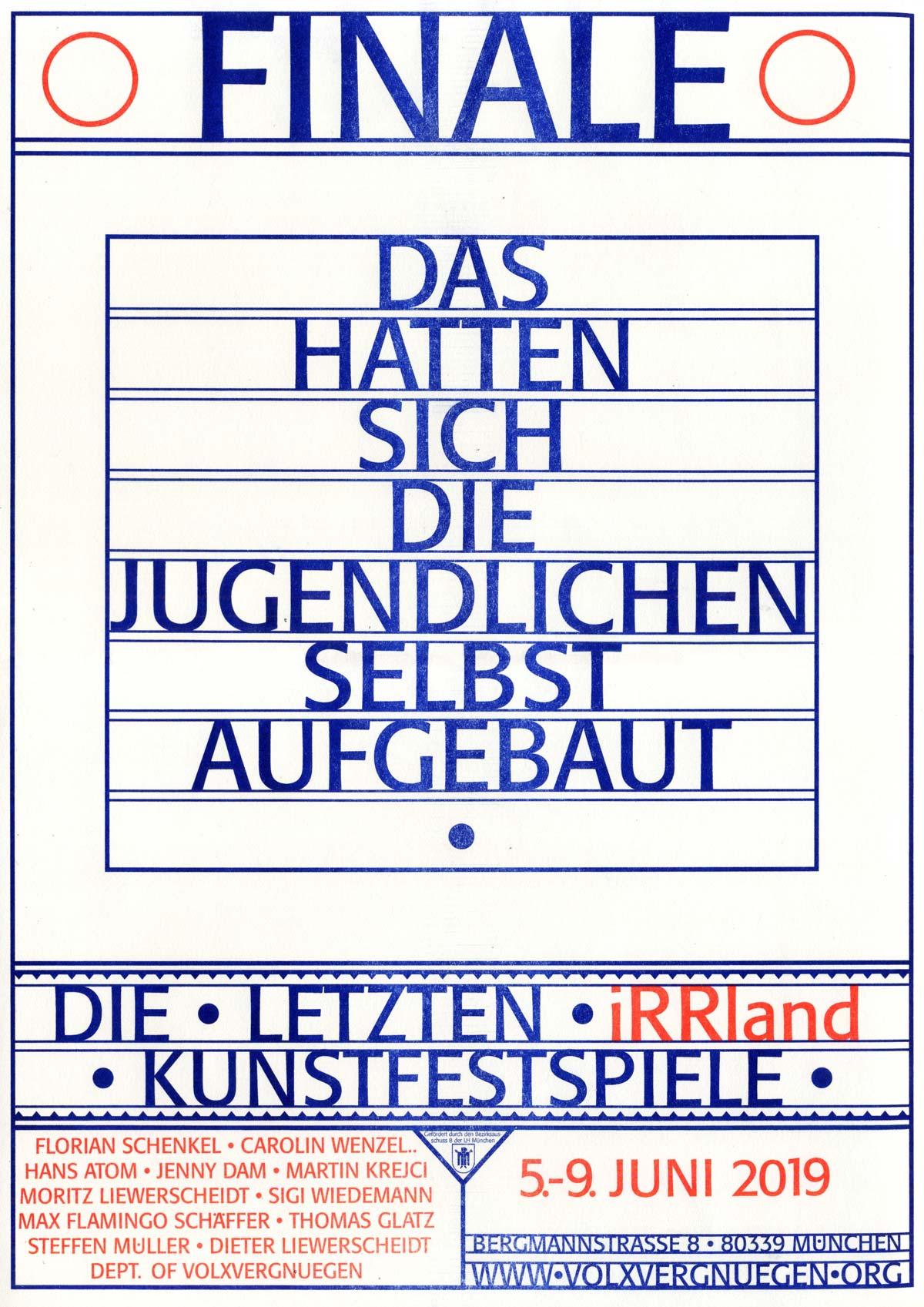 Plakat für die FINALE, Gestaltung: Silberstein Produktion