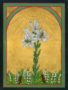Eine Lilie unter Disteln, 30 x 40 cm, 2019