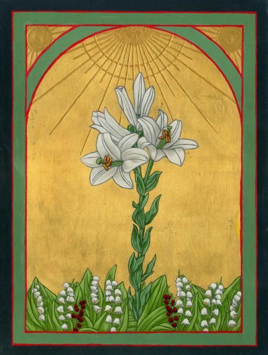 Eine Lilie unter Disteln, 30 x 40 cm, 2018