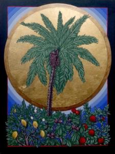 Südwind, herbei! Durchweht meinen Garten, lasst strömen die Balsamdüfte!, 30 x 40 cm, 2020